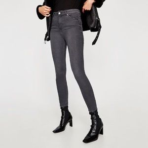 b714a2ae0e Zara dark grey high waisted jeans